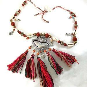 Jewelry - Necklace Boho Women Tassel Multi-color Yarns